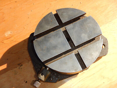 Vintage Atlas Milling Mill Machine Rotary Table W Index Pin Machinist Tool Lotb