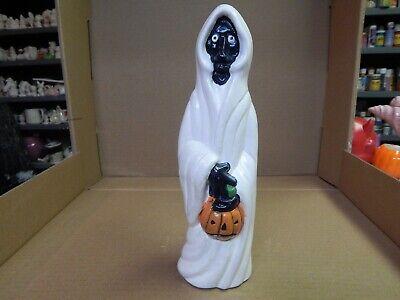 "Vintage Hand Painted Ceramic 9.5"" Ghost Ghoul Jack-O-Lantern Figure Halloween"