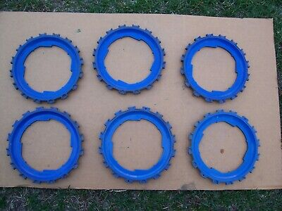 6 Plastic Lustran Jd Planter Plates 4b5 2b5-16 Blue In Color John Deere