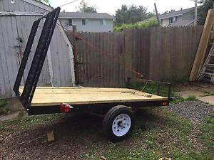 4x8 flat deck trailer for atv