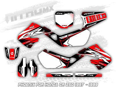 (NitroMX Graphics Kit for Honda CR 250 1997 1998 1999 Motocross Decal Stickers MX)
