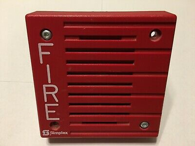 Simplex 4902-9703 Fire Alarm Speaker Red