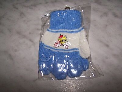 MIO Baby & Toddler Boys Light Blue & White Winter Gloves (NEW) Dog Head - White Gloves Toddler