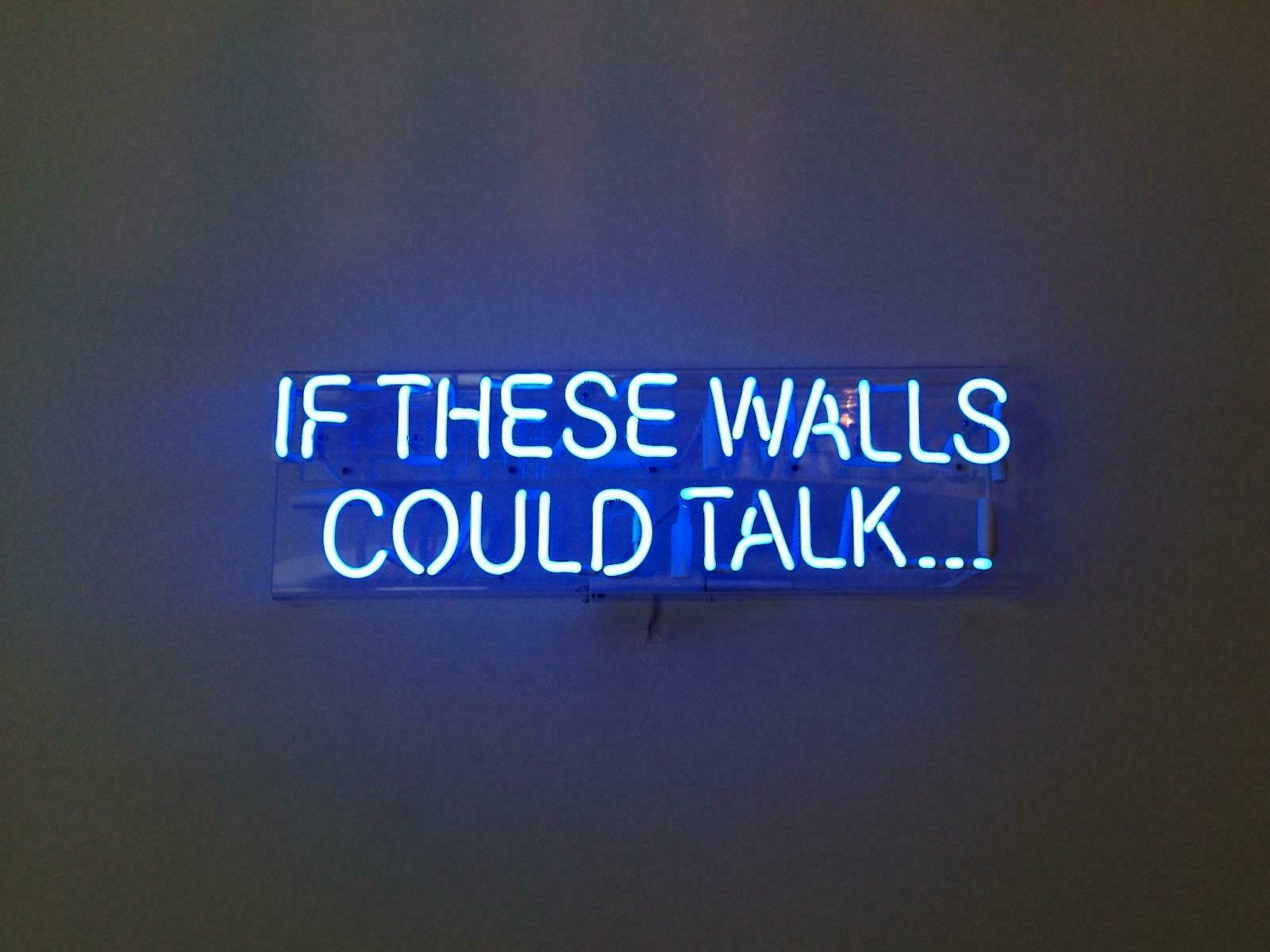 New If These Walls Could Talk Bar Pub Logo Acrylic Neon Ligh
