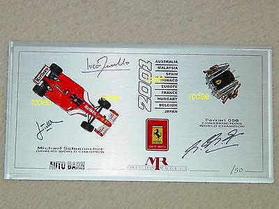 Used, 1/43 Auto Barn MR Ferrari F2001 F1 race engine Schumacher signed limited edition for sale  Shipping to India