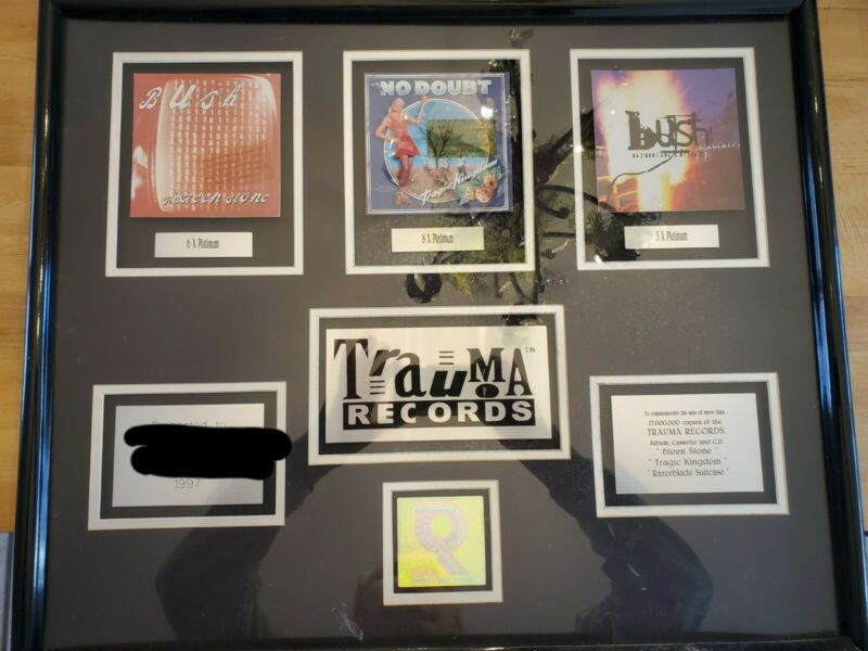 Trauma Records RIAA multi-platinum award BUSH  DOUBT