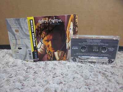 Michael Anderson Autograph Saints   Sinners Cassette Tape Christian 1993 Galilee