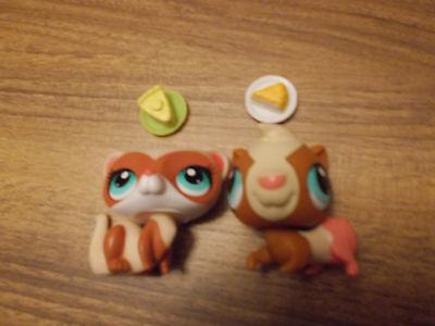 2 Littlest Pet Shop Frettchen und Hamster