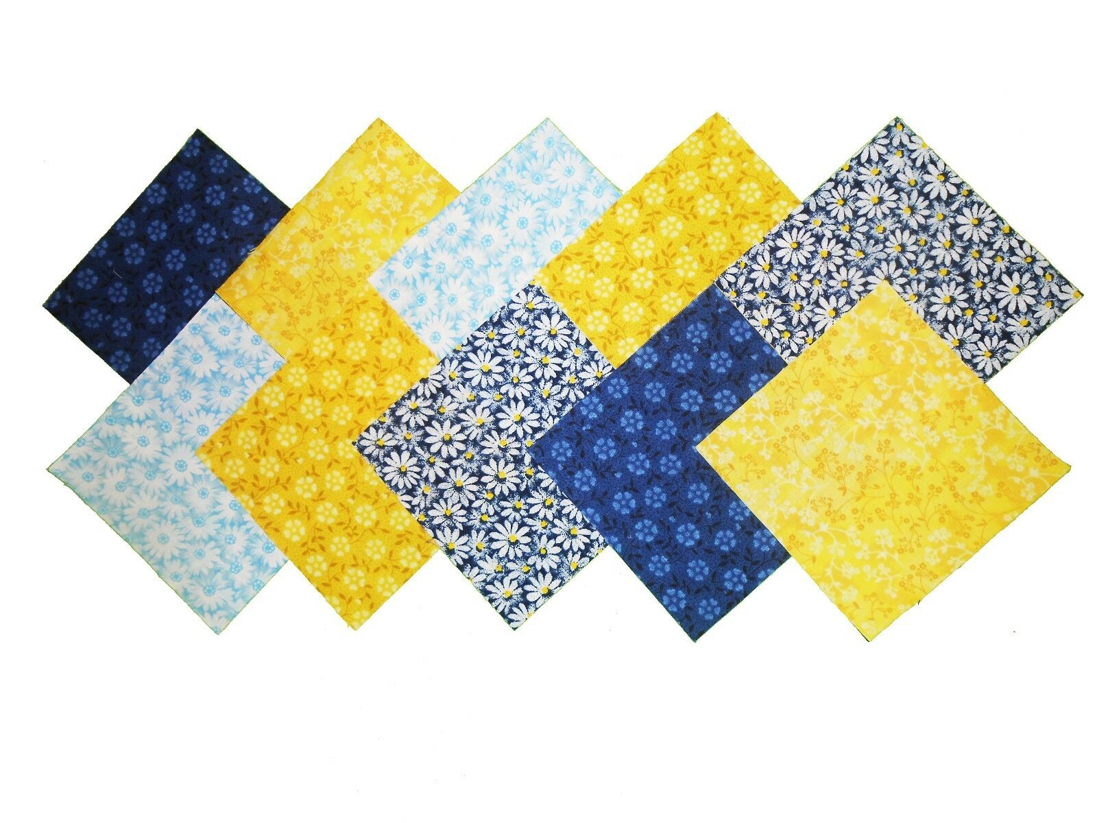 """40 5/"""" Quilting Fabric squares French Country Floral//Navy Charm pack BUY IT NOW!!"""