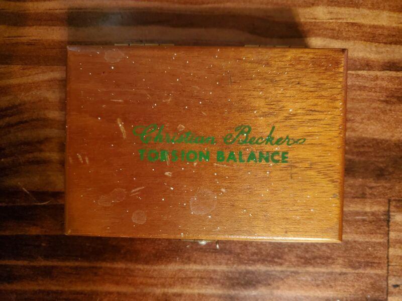 Christian Becker Torsion Balance Weight Set w/ Tweezers in Wooden Case