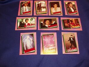 10  Michael Jackson Topps Series 1 Trading Cards Mint 1984 (3rd)