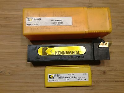 Kennametal Threading Tool Holder Nsl-203d 1-14 Sq Sh 6oal Lh 5 Inserts New
