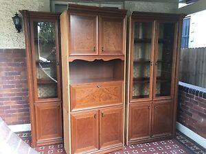 Vinatge cupboard, display cabinet, glass doors Mortlake Canada Bay Area Preview