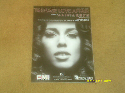 Alicia Keys sheet music Teenage Love Affair 2007 8 pages (NM shape)