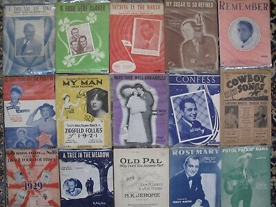 175+ lot of Sheet Music 1920-1950 Very Nice & Clean