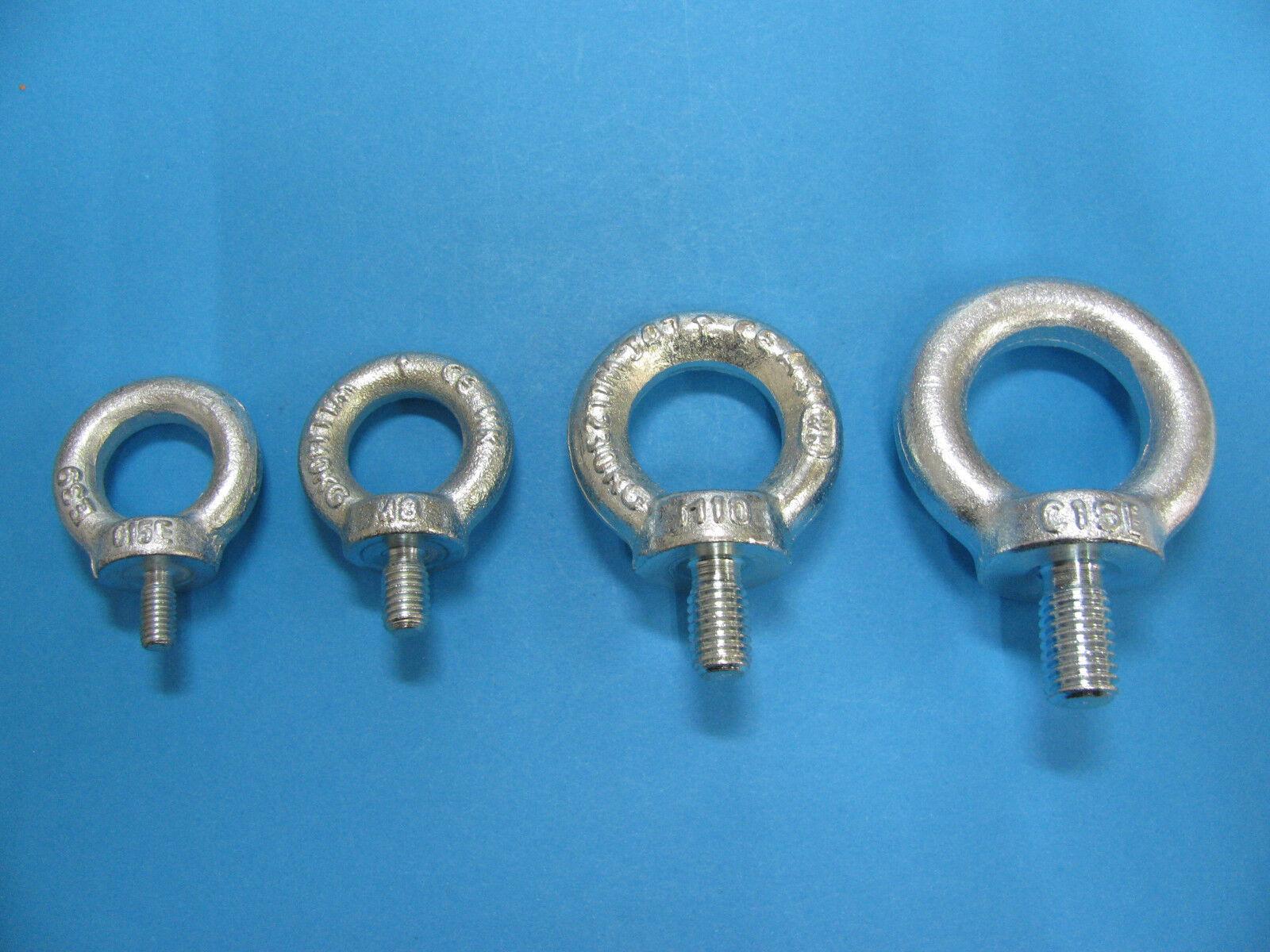 Ringschrauben Ösenschrauben C15 E verzinkt DIN 580 M6-M12 Augenschraube