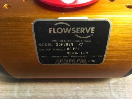 Flowserve Worcester Controls, 20F39SN R7, output 80psi 339in lbs, Series F39