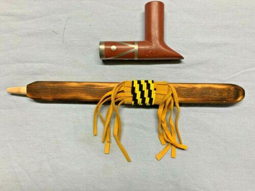 Native American Pipestone Peace Pipe by Pete Musil (Heyoka) (#20)