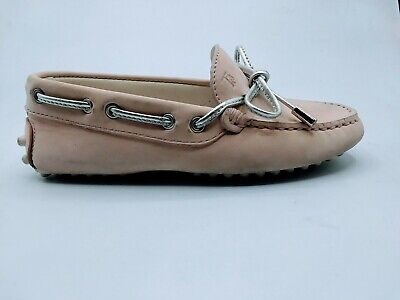 TOD'S Boys shoes baby child loafers moccassins leather laccetto occhielli gommin