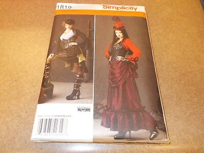 Female Steampunk Outfits (Simplicity Costume Pattern 1819 Ms STEAMPUNK Victorian Outfits~ Theresa)