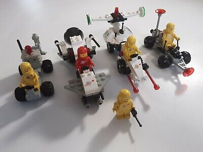 Vintage Lego CLASSIC SPACE 1981 4 sets lot, Set 6823 6849 6842 6826 Minifigures