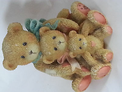 Cherished Teddy Teddies Theadore Samantha and Tyler 1991