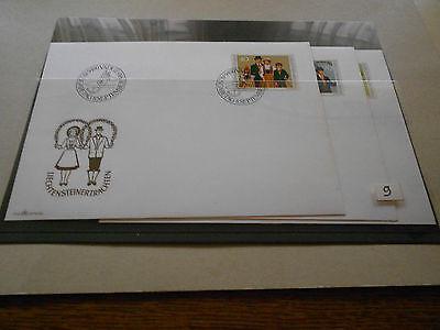 Briefmarken Liechtenstein 3 FDC  Privatverkauf