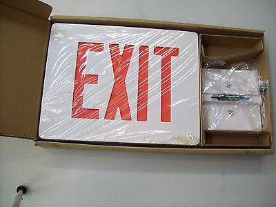 Dual-lite Clearview Exit Sign Model Cvd1raw 120277v Die Cast Single Face White