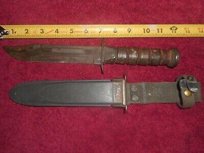 Robeson MK2 Mark 2 M 2 USN US Navy Fighting Knife Navy WWII WW2 w Scabbard
