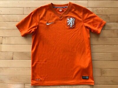 Nike Holland World Cup - Nike Netherlands Nederlands 2014 World Cup Dri Fit Soccer Jersey Size Youth Sz L