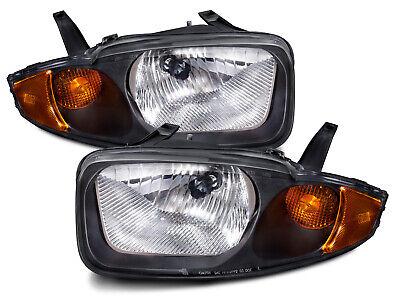 Headlights Pair Left Right Set New Fits 2003-2005 Chevrolet Cavalier