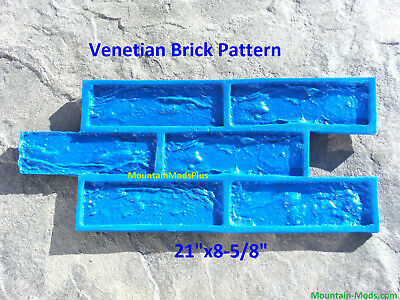 Venetian Brick Pattern Decorative Concrete Cement Plaster Texture Stamp Mat New