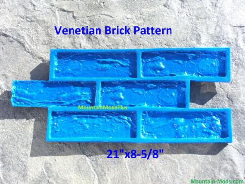 Venetian Brick Pattern Decorative Concrete Cement Plaster texture Stamp Mat NEW