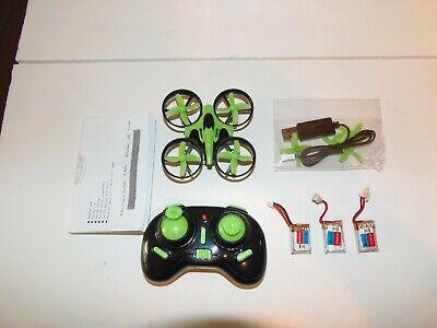 Eachine E010 Mini RTF 2.4GHz 6 Axis Headless Fad Quadcopter / Drone Green 3batt