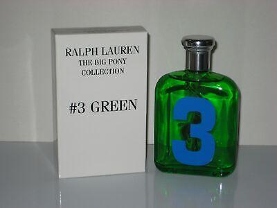 Ralph Lauren Polo Big Pony No 3 Green 4.2 Oz / 125 Ml Eau De Toilette Spray