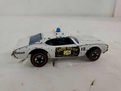 Hot Wheels Redline 1969 Olds Cutlass 442 State Police ALL ORIGINAL