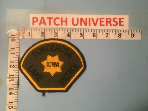 PONDEROSA IOWA LAKE PATROL SHOULDER PATCH K069