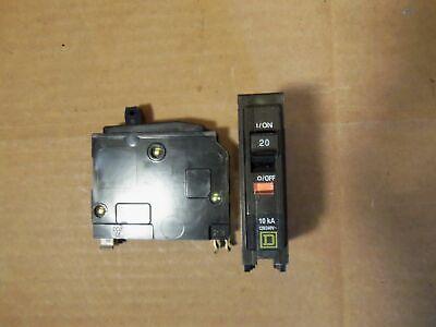 New Open Box Square D Qo Qo120 1 Pole 120240v 20 Amp Circuit Breaker Yellow