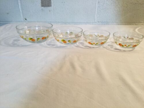nesting Durable Heat Resistant Glass 4 pinch mix Bowls sunflower stacking