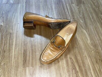Vintage Gucci Horsebit Loafer Size 39 US 6.5 Brown Leather Authentic