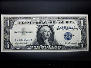 1957 $1 SILVER CERTIFICATE ★ CH-CU UNCIRCULATED ★ CHOICE NEW UNC A B ◄EDELMANS►