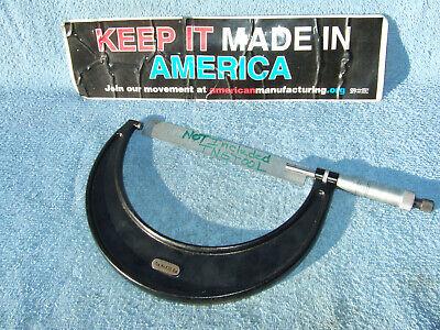 Starrett 5-6 T436xrl-6 No Box Micrometer 0001 Toolmaker Machinist Grind Mill