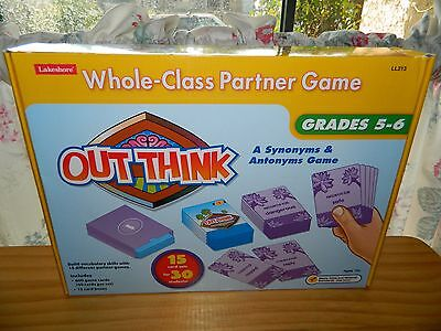 Out Think A Whole Class Partner Game Lakeshore Synonyms Antonyms Grades 5 6