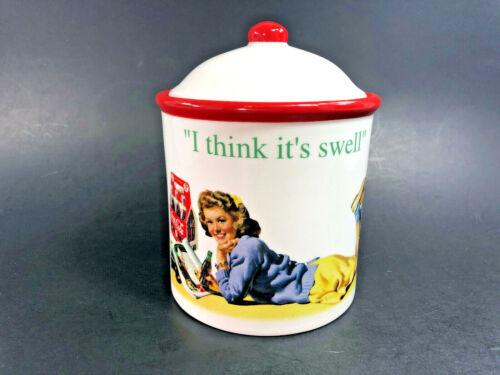 """RARE ~ AIR-TIGHT Coca-Cola Cookie Jar ~ 6 1/4"""" tall x 5"""" diameter ~ Rubber Seal"""