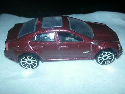 Hot Wheels 1/64th Scale Maroon '09 Cadillac CTS-V LOOSE IN GOOD CONDITION
