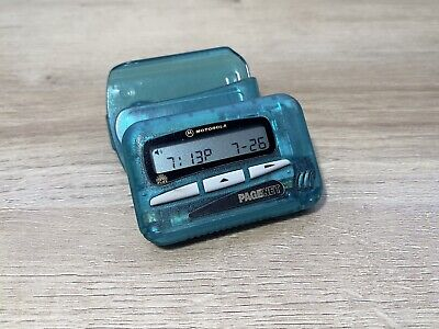 Motorola Flex Pager With Belt Clip Case Green Working