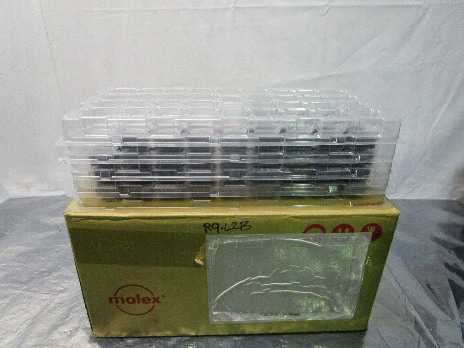 1 Lot of 124 Molex 0783481011 Impact Pwr 3PrRA Rcpt/HDn PF.76AuLF 8Ckt, 101946