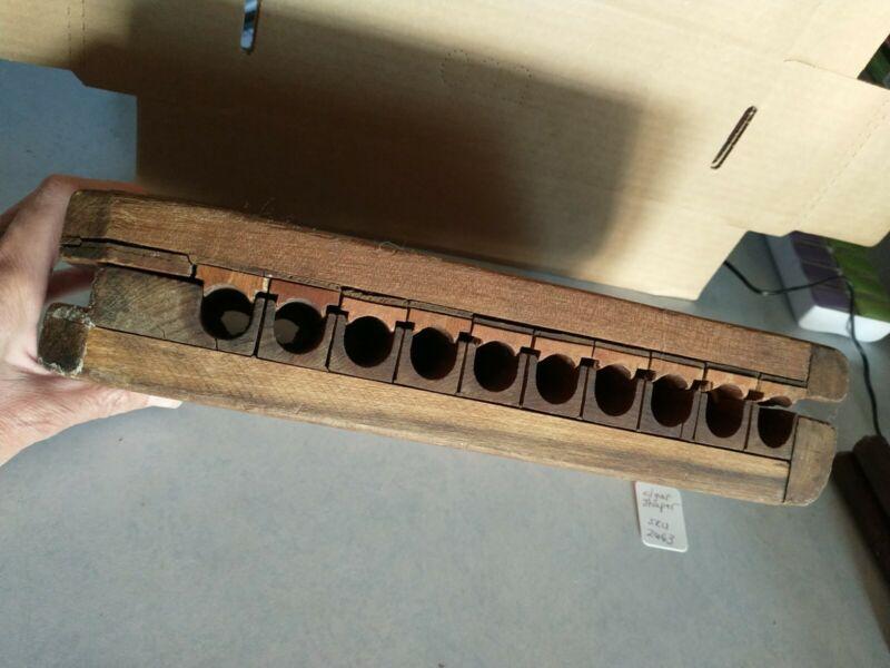 Antique Durex #16 - 10 Wooden Cigar Press Mold Tobacco - 536087