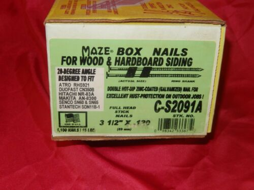 MAZE 20° Hot-Dip Galvanized Ring Shank Box & Siding Nails-Fiber Cement Siding