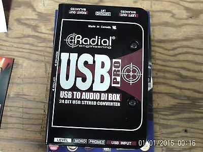 Radial USB-Pro Audio Direct Box, USB to Balanced, Mint Condition